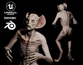 3D asset Evil Bat Vampire creature