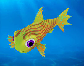 3D model Cartoon Fish10 Rigged Animated