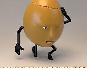 3D model humpty dumpty - egg face