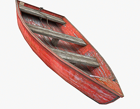 Rowboat 3D model low-poly
