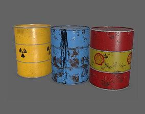 3D asset Oil Barrels PBR