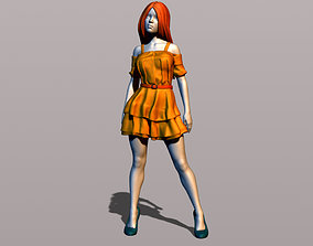 3D printable model Pretty girl in summer dress
