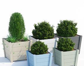 Hardwood planters 2 3D model