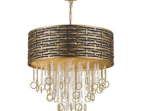 Chandelier Lucia Tucci Perso 4931-6 Gold and Black 3D