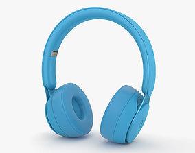 Beats Solo Pro Light Blue 3D