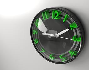 3D Wall Clock 3