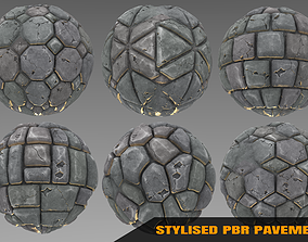 3D Pavement - Stylised PBR Texture - Material