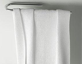 3D Towel 04 white