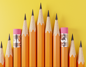 office-supply Pencil 3D model Free