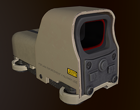 3D model Eotech 553 holographic sight desert camo