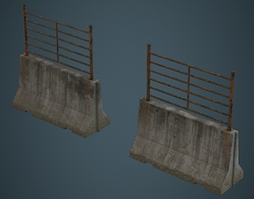 Concrete Barrier 2C 3D model