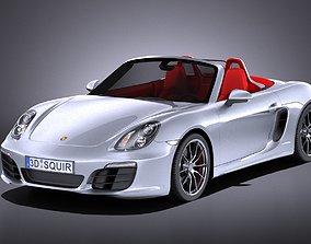 Porsche Boxster S 2016 VRAY 3D model