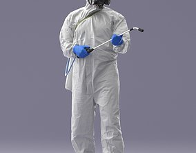 Hazmat suit man 0329 3D