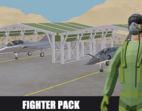 3D model Fighter Jet French low poly pack