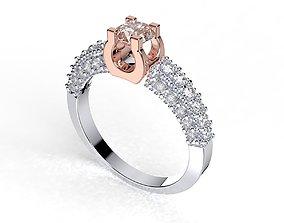 3D printable model Engagement Ring Design - 01-L
