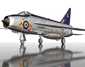 3D asset RAF English Electric Lightning F2 military 1