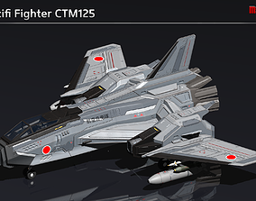 Scifi Fighter CTM125 3D asset
