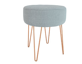 Stool Lulea MAISONS DU MONDE 3D model