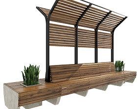 Bench 3D model tavern