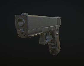 3D asset realtime Glock gun