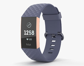 3D Fitbit Charge 3 Blue