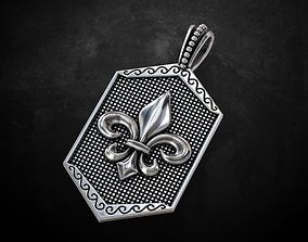 Suspension with the Heraldic lily 192 3D printable model