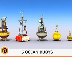 Five Ocean Buoys 3D