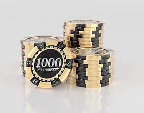 Stack Of Casino Chips 3D
