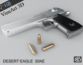 3D model Pistol Desert Eagle 357 Magnum