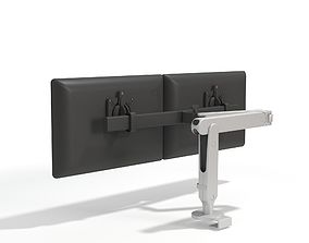 3D model Dual Monitor Arms