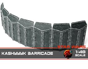Kashyyyk barricade 1-48 scale 3D print model