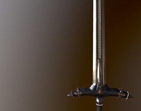 German stylized two-handed sword 3D model