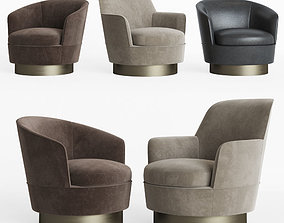 Minotti Jacques Low and High Armchair 3D