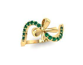 1423 luxury diamond ring 3D printable model