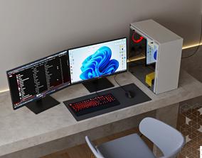 3D asset GAMING PC SET