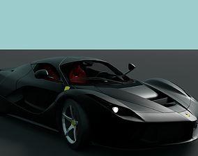 Ferrari LaFerrari Black 3D asset