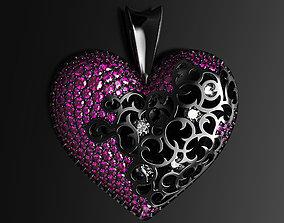 Precious heart pendant 3D print model