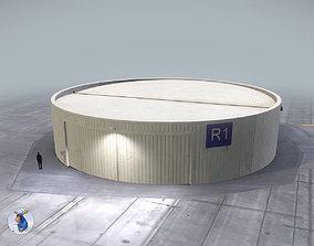 3D asset Hangar Cylindrical LOWS