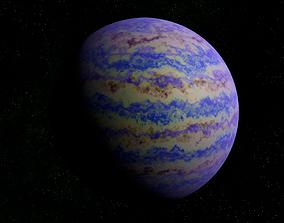 Blue gas giant 2 3D asset