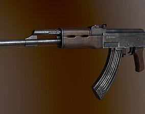 AK 47 3D asset game-ready PBR