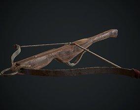 3D asset VR / AR ready Medieval Crossbow