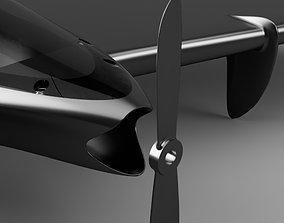 3D printable model flying wing drone v2