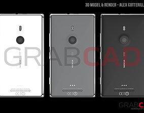 3D Nokia Lumia 925 - White Back