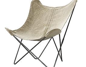 3D model Restoration Hardware Tye Butterfly armchair