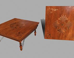 coffetable Table 3D asset low-poly