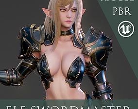 3D model Elf Swordmaster - Game Ready