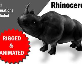 3D asset Rhino Rigged and Animated