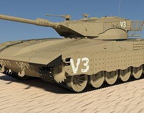 3D Tank Merkava II Israel Mental Ray