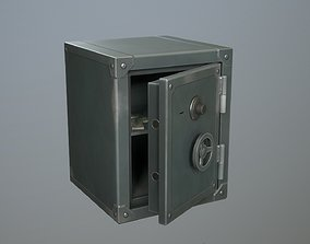 3D asset animated Safebox locker small Game-ready