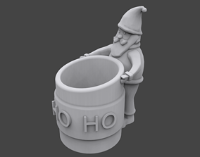 Santa pencil holder 3D printable model